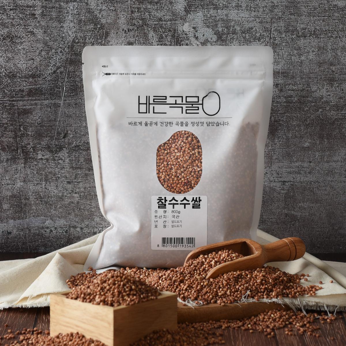 바른곡물 찰수수쌀, 800g, 1개
