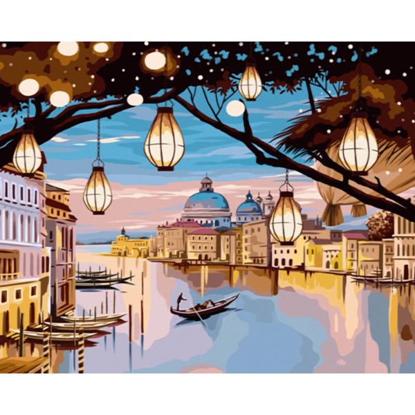 투코비 DIY 명화그리기 세트 가로형 40 x 50 cm, 강가의 밤 (G549)