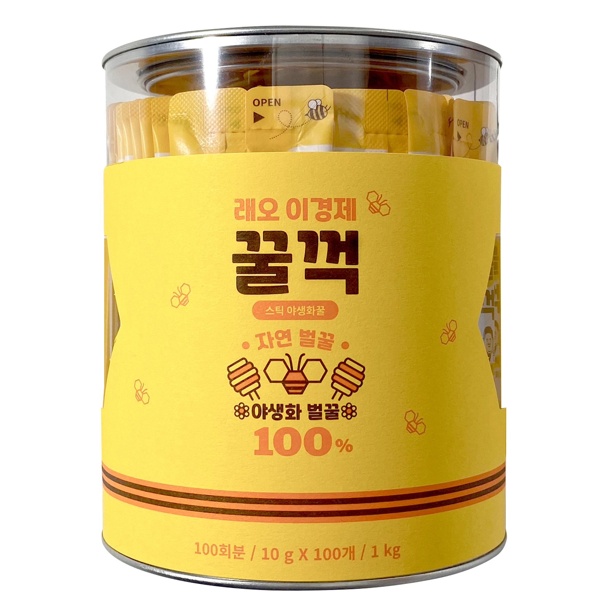 꿀꺽스틱 야생화 벌꿀 허니스틱, 10g, 100개