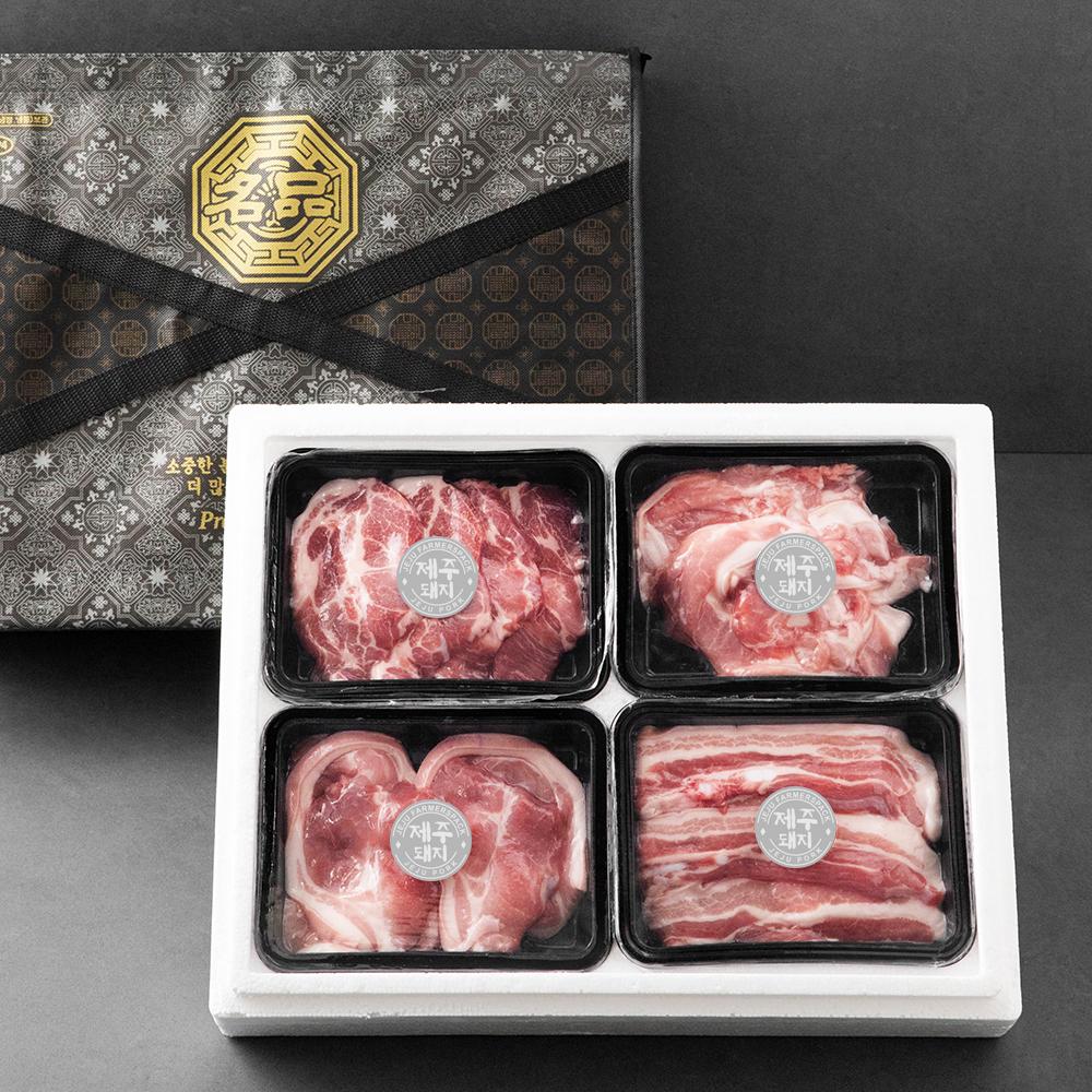 파머스팩 제주 돼지 4종 선물세트, 1600g, 1세트