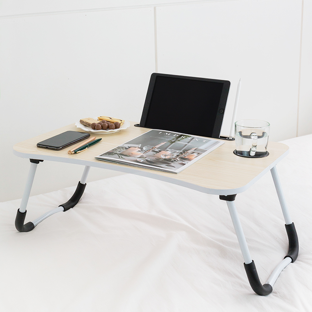 레토 접이식 컵홀더 베드 테이블 LNS-W03, 혼합색상