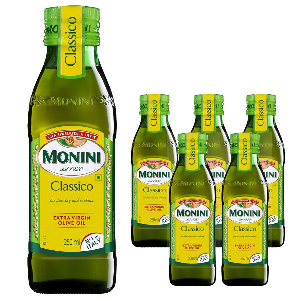 모니니 클래시코 엑스트라 버진 올리브오일, 250ml, 6개