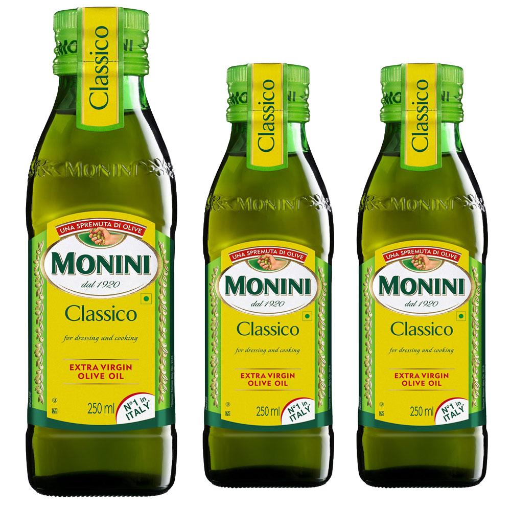 모니니 클래시코 엑스트라 버진 올리브오일, 250ml, 3개