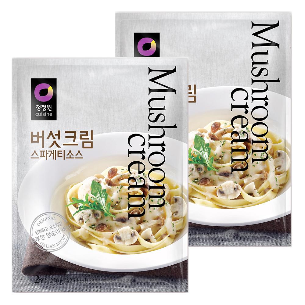 청정원 버섯크림 스파게티소스, 250g, 2개