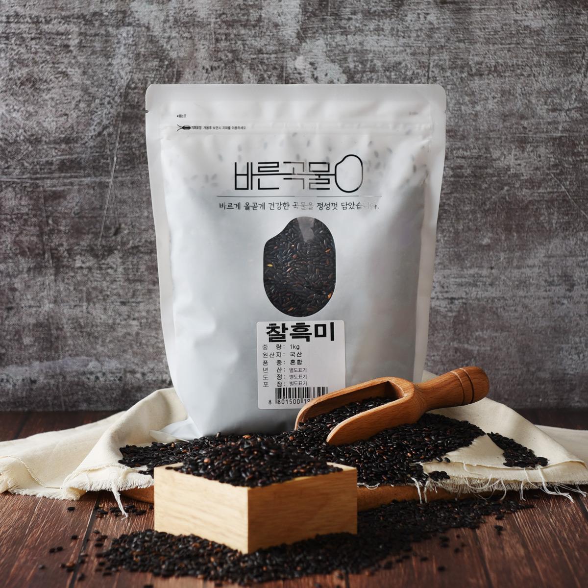 바른곡물 찰흑미, 1kg, 1개