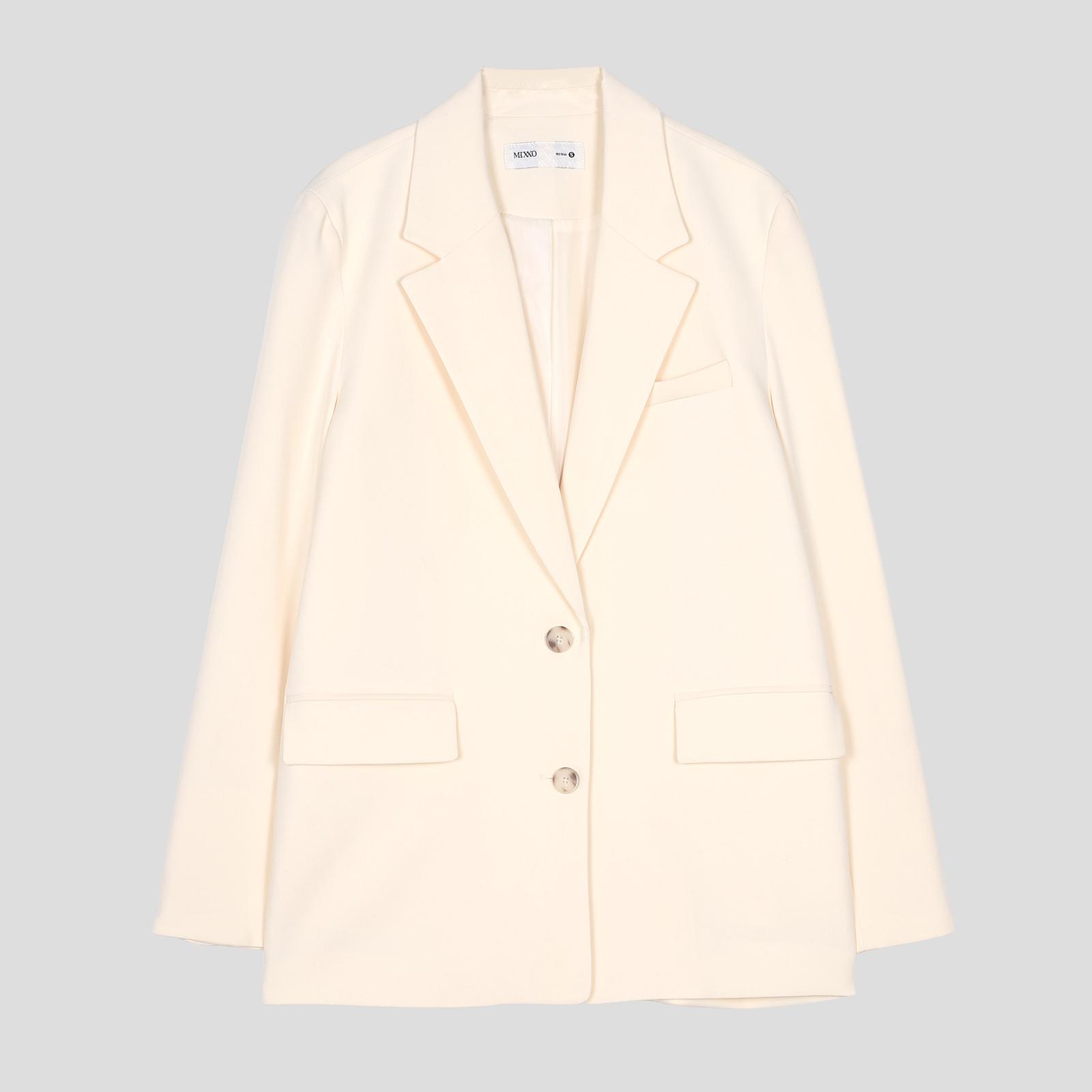 미쏘 여성용 오버핏 싱글 데일리 자켓