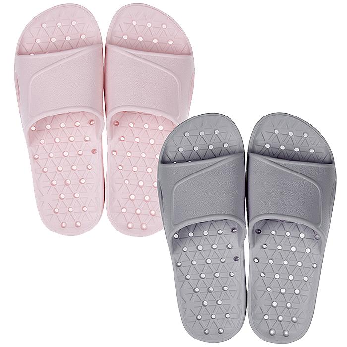 샤바스 EVA 유로 욕실화 핑크 + 그레이, 1세트