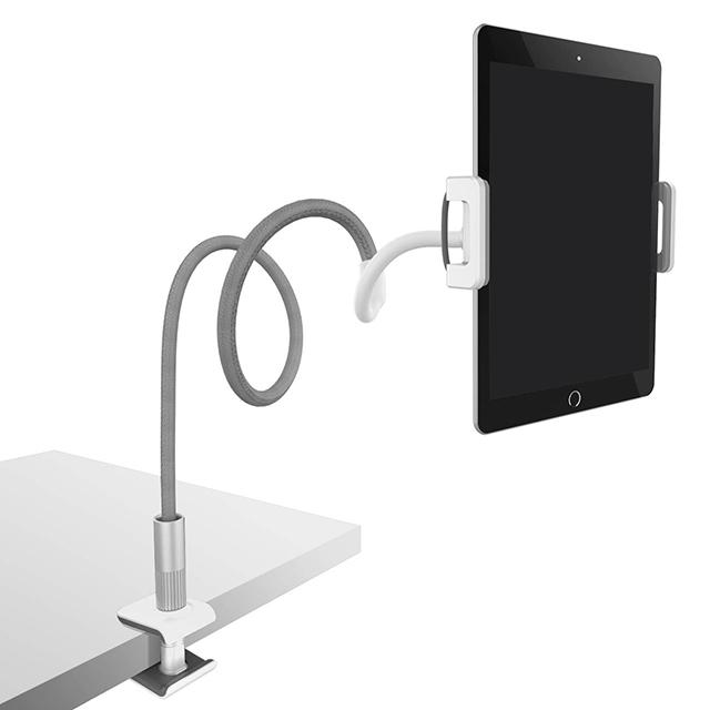루아모 침대 아이패드 스마트폰 거치대 1.1m, 화이트