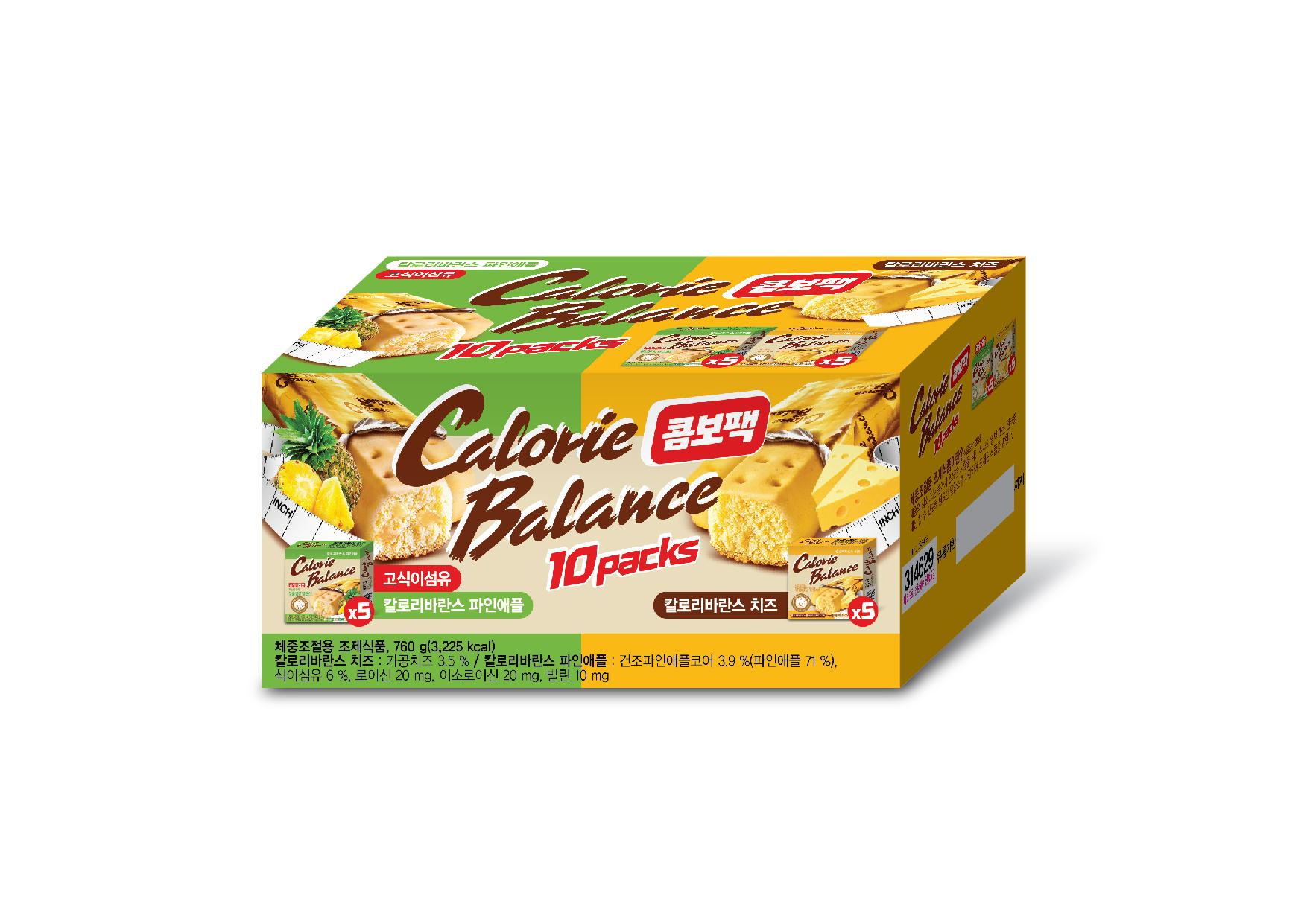 칼로리발란스 치즈 76g x 5p + 파인애플 76g x 5p 다이어트식품 세트, 1세트
