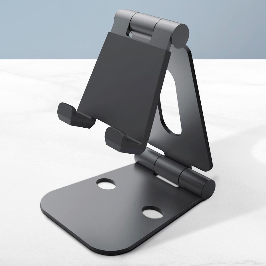 홈플래닛 고급형 탁상용 탭 패드 태블릿 스마트폰 거치대 (접이식 휴대용)  메탈그레이  1개위시비 bstand M 스마트폰 태