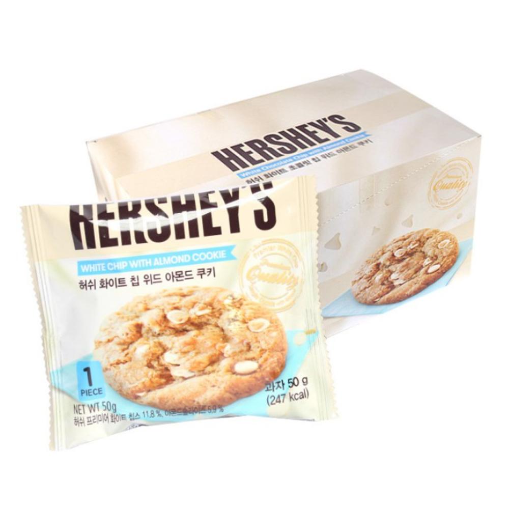 허쉬 화이트 칩 위드 아몬드 쿠키, 50g, 10개입