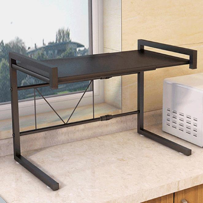 오엠티 다용도 전자렌지대 수납 선반 OKA-ZM2, 블랙