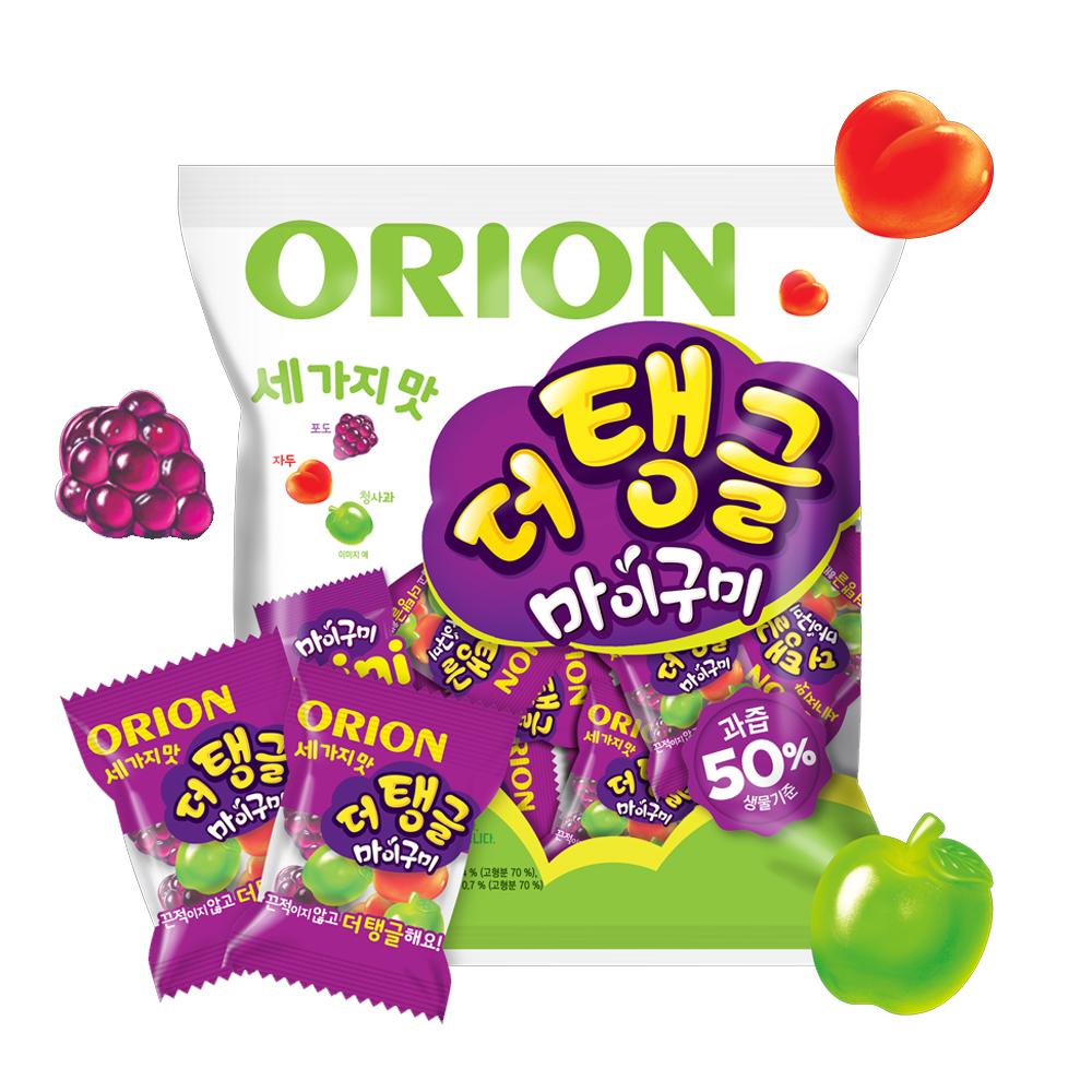 오리온 세 가지 맛 더 탱글 마이구미 츄잉젤리, 9.8g, 70개입