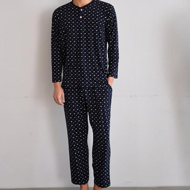 속옷미인 남성용 퍼피도트 잠옷 상하세트