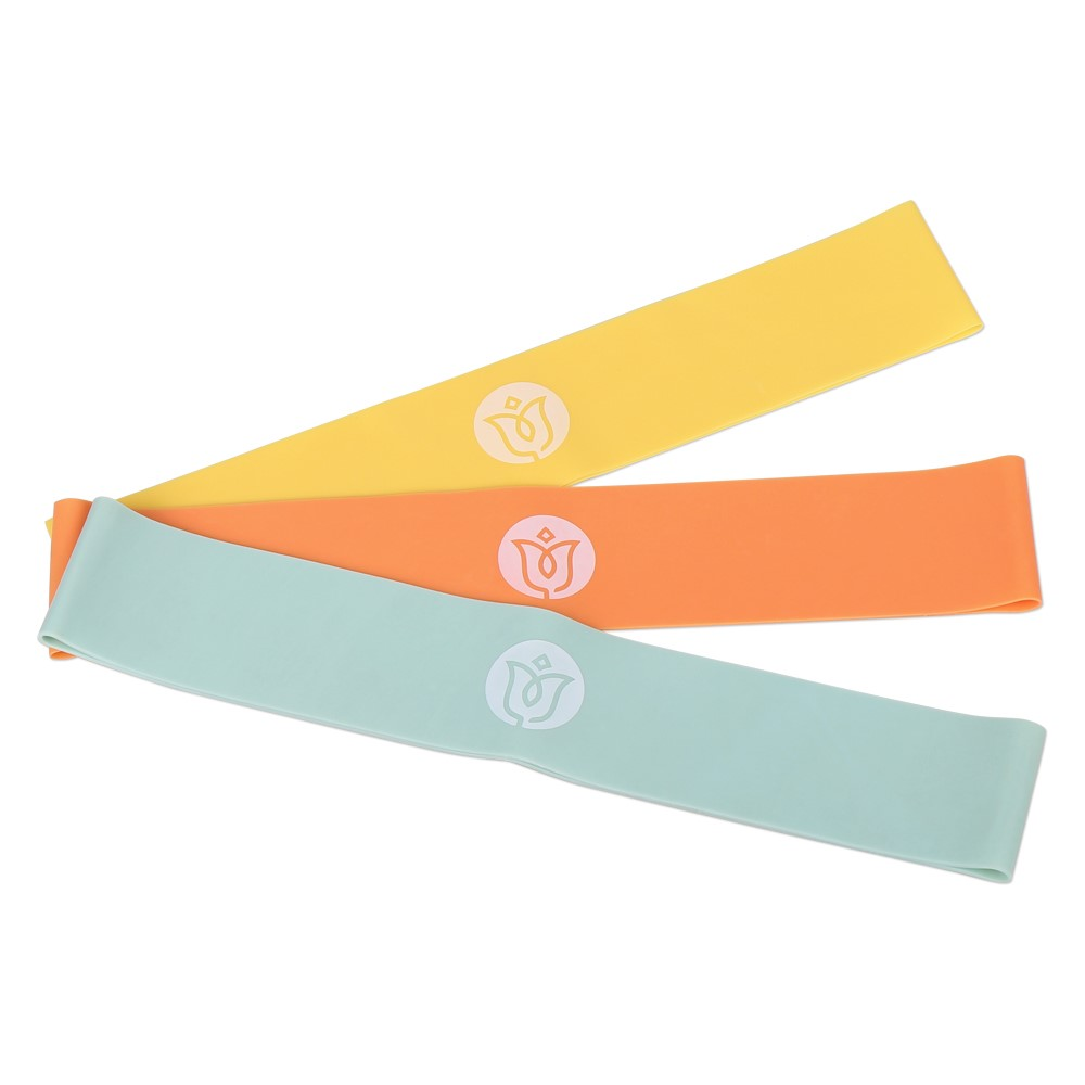 업앤쉐이프 저항밴드 3p 세트, 옐로우(0.4mm), 오렌지(0.7mm), 블루(1.0mm)
