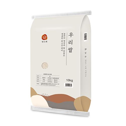 월드그린 한드레 우리쌀 백미, 10kg(상등급), 1개