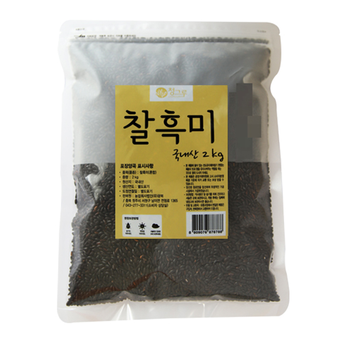 청그루 찰흑미, 2kg, 1개