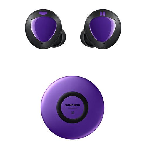삼성전자 갤럭시 버즈 플러스 BTS 에디션 블루투스 이어폰 + 무선충전패드, SM-R175, B.퍼플