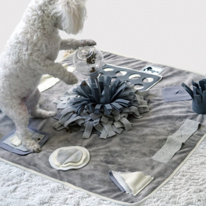 더플래 코박고 담요 강아지 노즈워크 장난감 중형 디럭스, 혼합색상, 1개