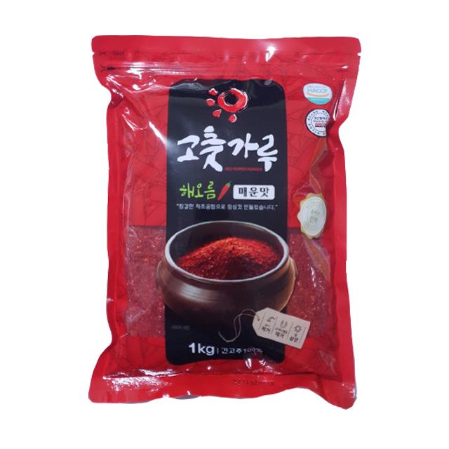 해오름 굵은 고춧가루 매운맛, 1kg, 1개