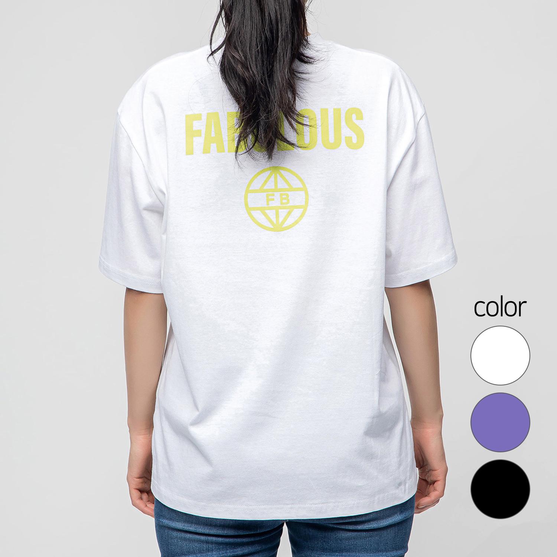 캐럿 남녀공용 그래픽 반팔 티셔츠 페뷸러스