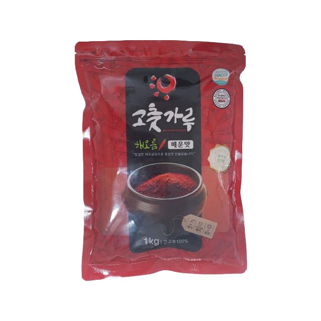 해오름 고운 고춧가루 매운맛, 1kg, 1개