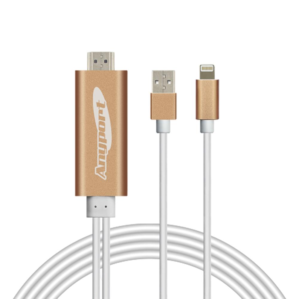 애니포트 HDMI 아이폰 전용 미러링케이블, AP-MW8, 1개