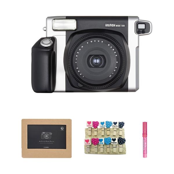 인스탁스 와이드 300 카메라 + 와이드 샌드위치액자 + 하트나무데코 + 미피펜, 단일 상품, 1세트