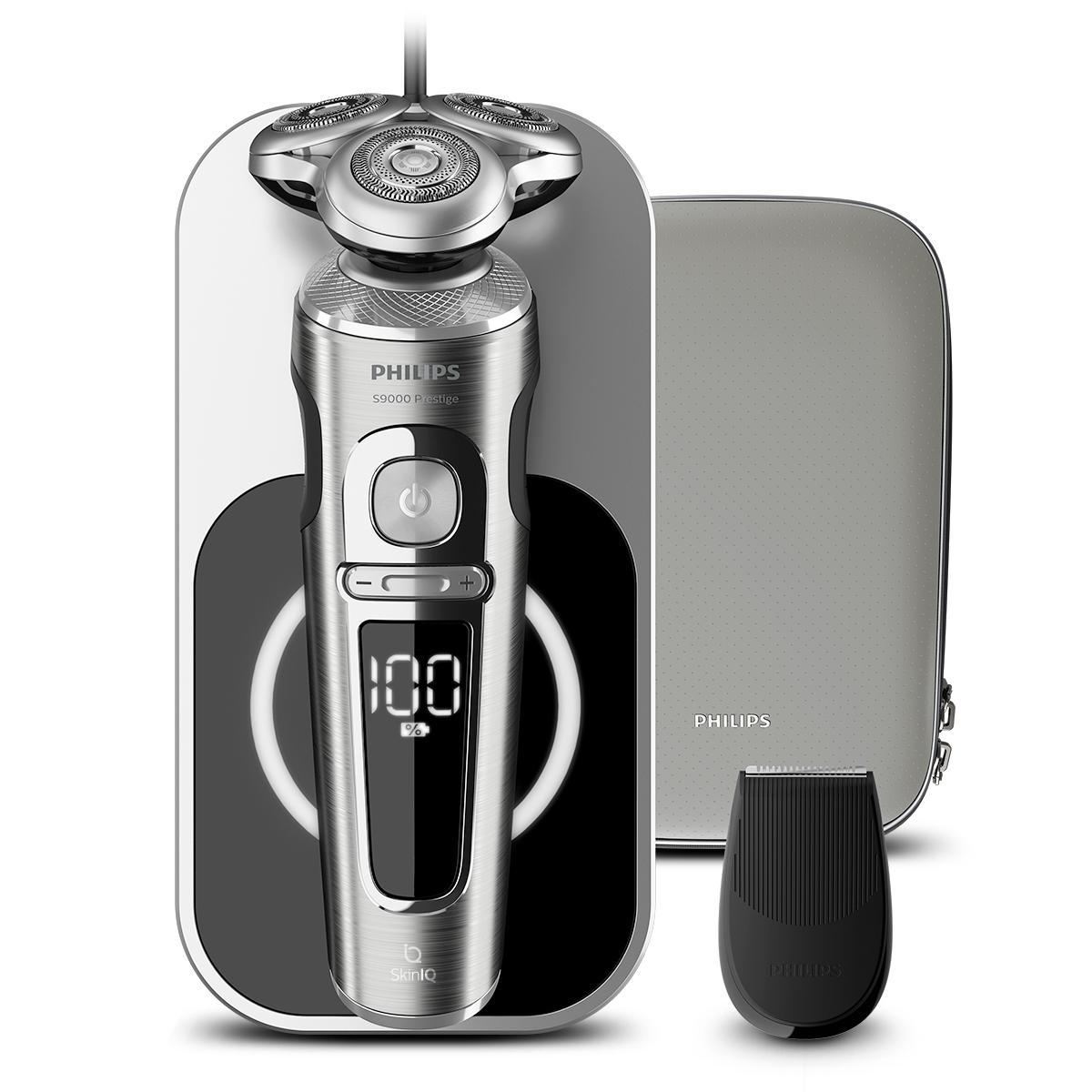 필립스 S9000 프레스티지 무선충전 전기면도기, SP9861/13, 타임리스 엘레강스 라이트