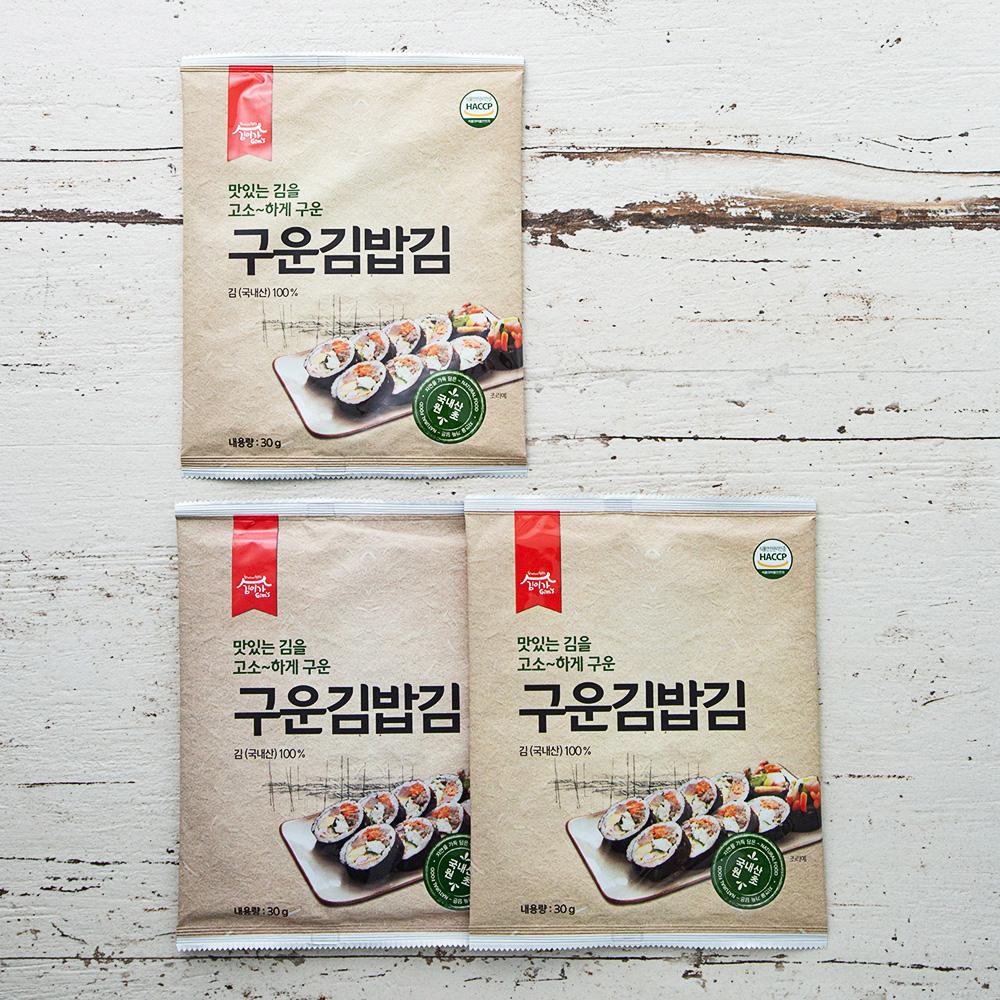김이가 구운김밥김 15매, 30g, 3개