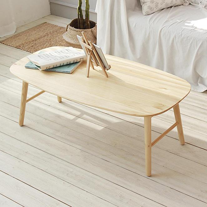 올리빙 원목 접이식 테이블 1100