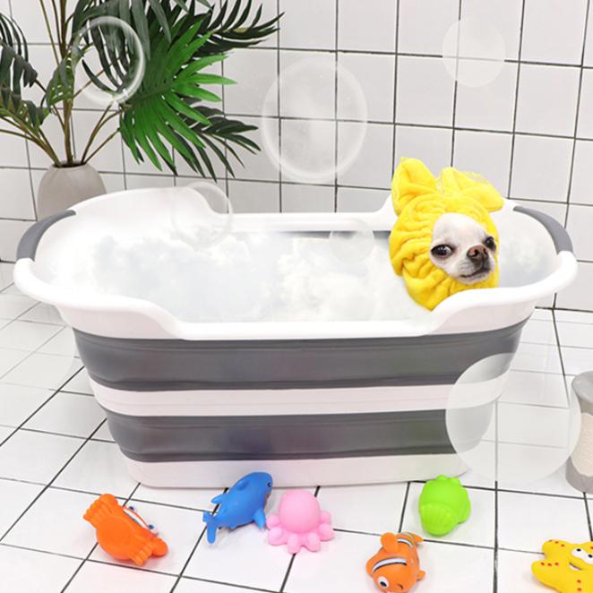 마이독 반려동물 접이식 목욕 욕조, 혼합색상, 1개 (POP 1316206835)