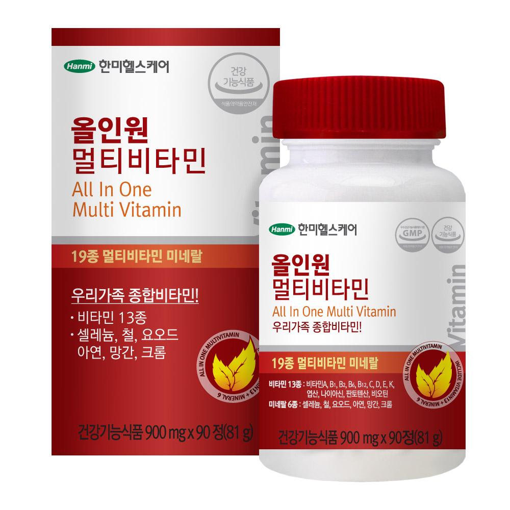 한미헬스케어 올인원 멀티비타민 90정, 1개
