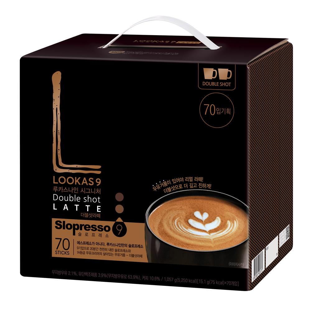 루카스나인 시그니처 더블샷라떼  1개  70개입루카스나인 시그니처 더블샷 라떼  1개  50개입루카스나인 더블샷 라떼 커피