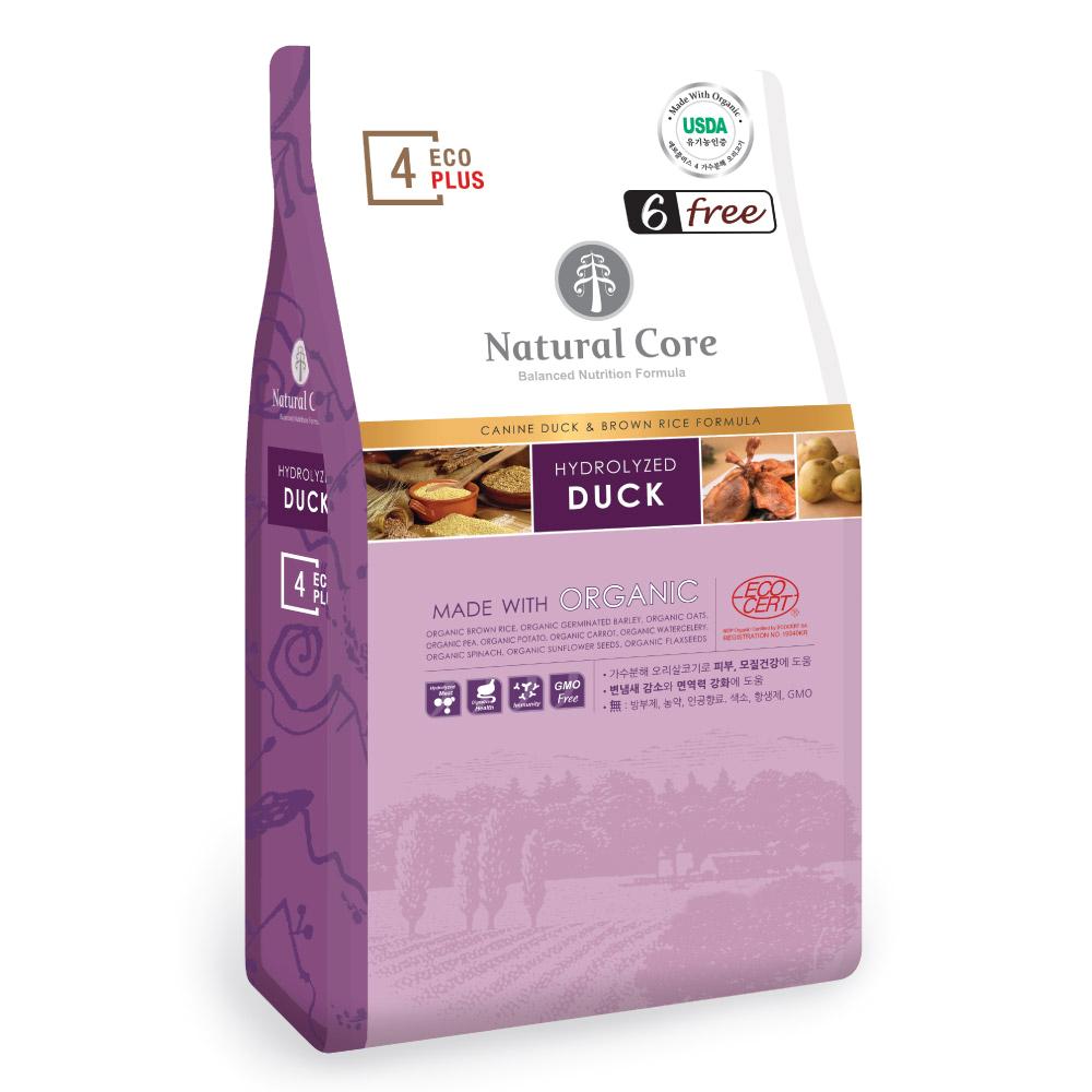 네츄럴코어 전연령 에코플러스 유기농 가수분해 오리고기 건식사료, 오리, 7kg, 1개