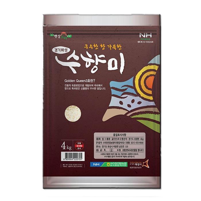 수라청농협 골드퀸 3호 수향미, 4kg, 1개
