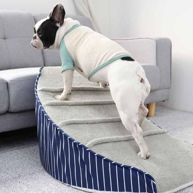 레드퍼피 슬로우 커브 반려동물 계단, 네이비 + 그레이