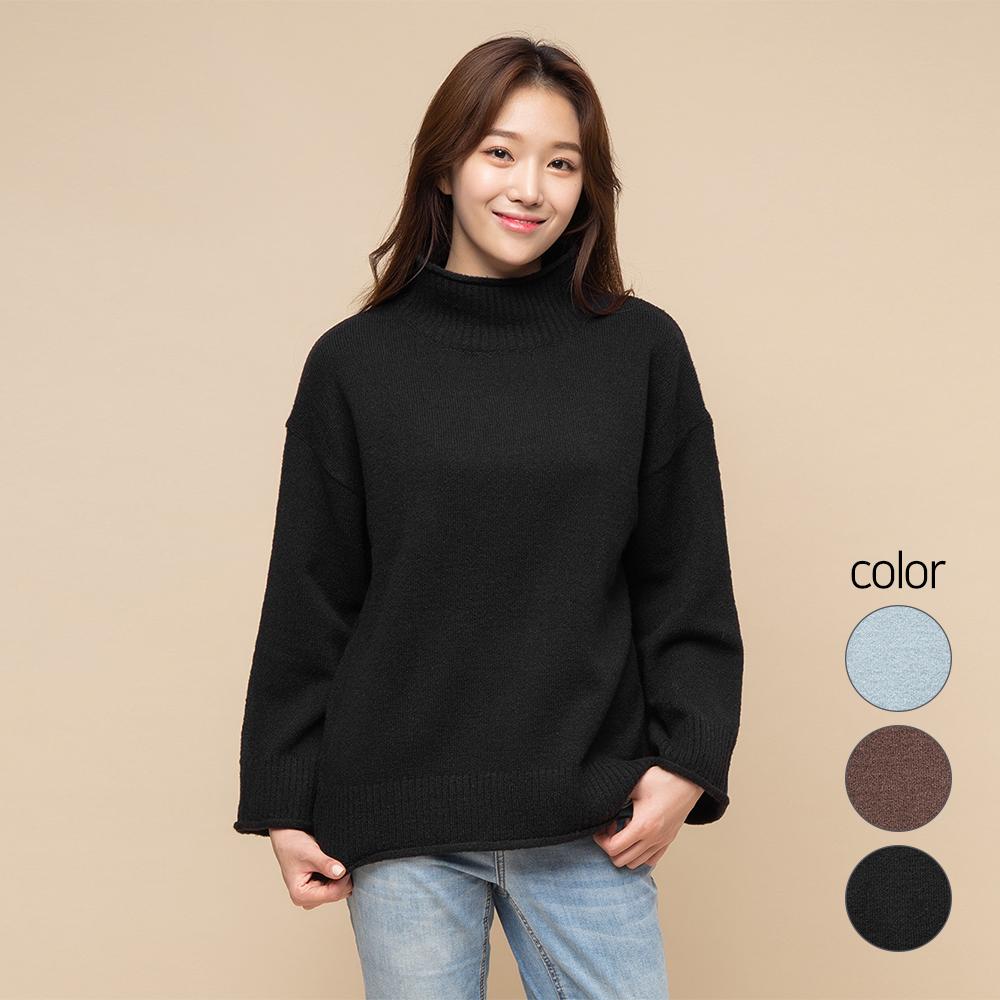캐럿 여성용 반목 청키 스웨터