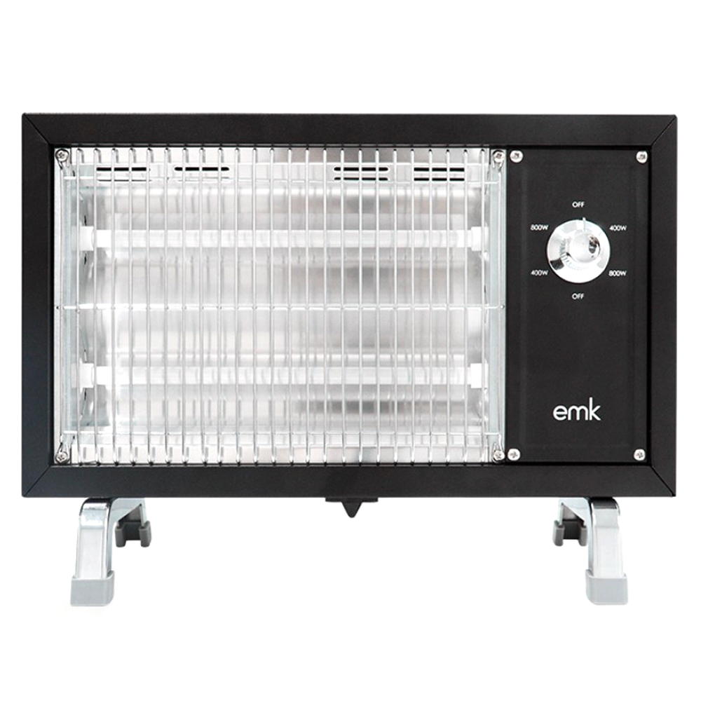 EMK 감성 레트로 전기히터 온풍기, 블랙, EQH-S1612