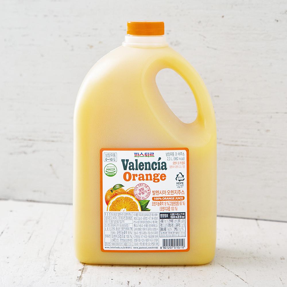파스퇴르 냉장 발렌시아 오렌지, 2.3L, 1개