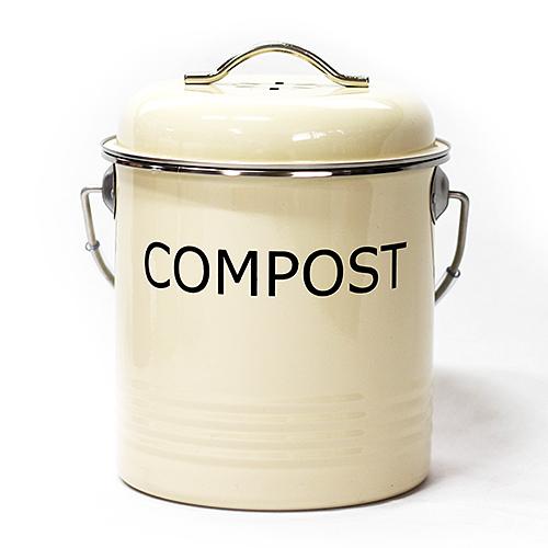 엔에이치비 냄새 차단 필터 내장 파스텔 음식물 쓰레기통 1.5L, 옐로우