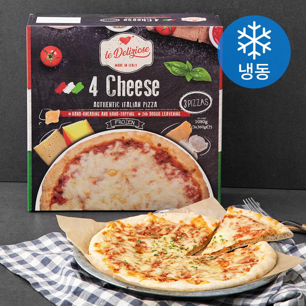 [쿠팡 직수입] [쿠팡 직수입] 델리치오세 포치즈 피자 (냉동), 360g, 3개 - 랭킹82위 (12480원)
