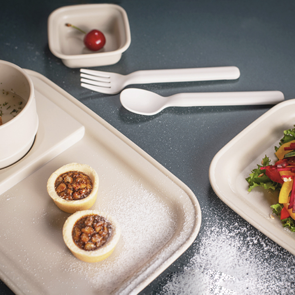 나인웨어 올디너리 브런치세트, 빈티지아이보리, 브런치테이블 + 스프컵 + 소스볼 + 사각접시