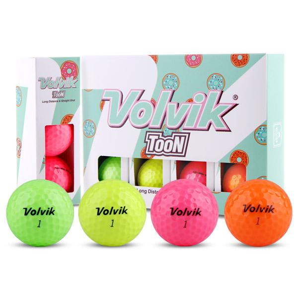 볼빅 TooN 툰 레인보우 칼라골프공 2피스 12p, 그린, 옐로우, 핑크, 오렌지, 1개