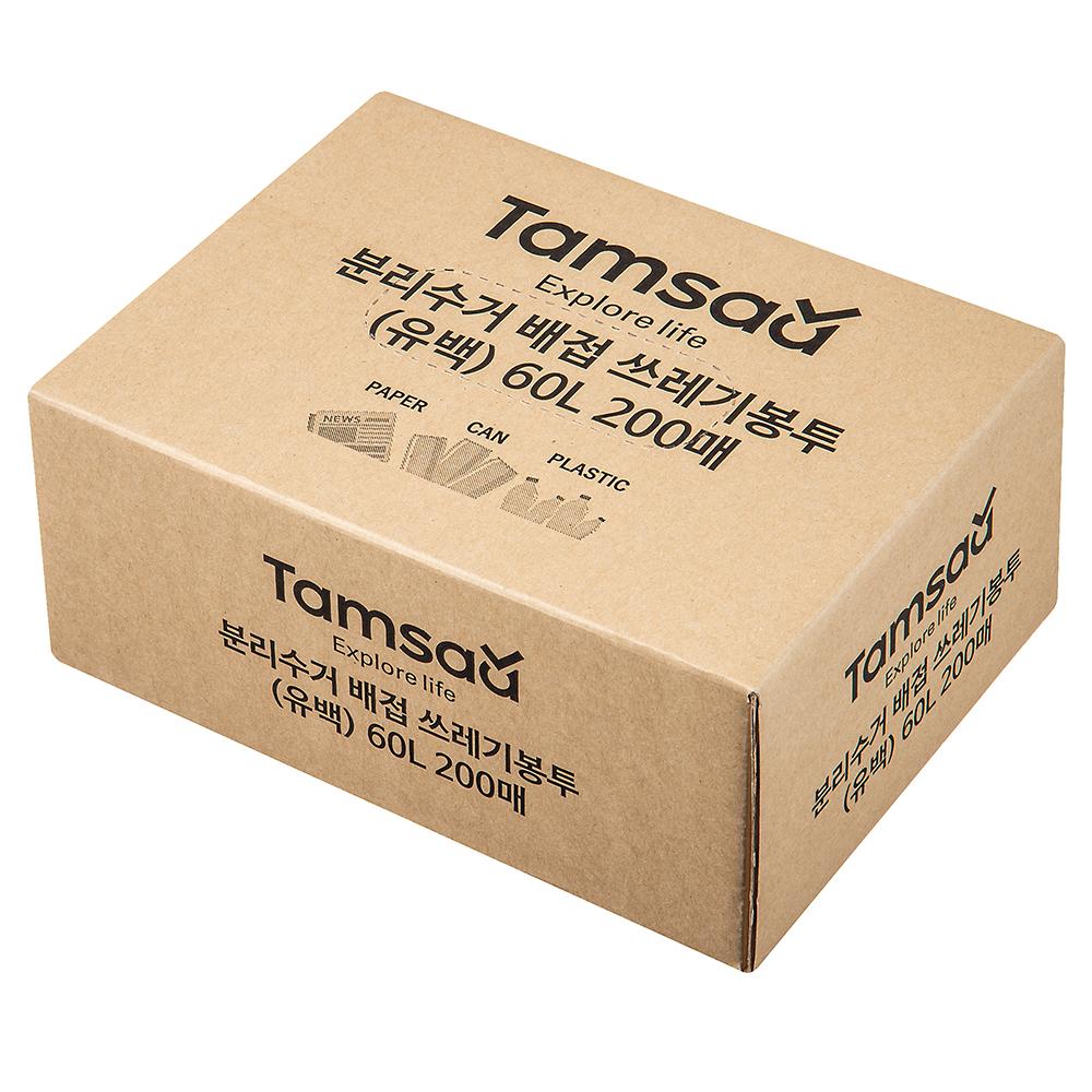 탐사 분리수거 배접 비닐 봉투 60L 200매, 1개