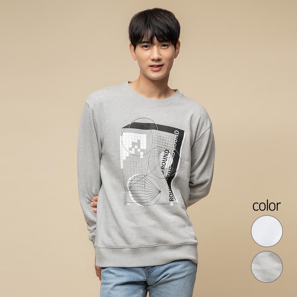 캐럿 남녀공용 릴렉스핏 그래픽 맨투맨 티셔츠 SM05AA