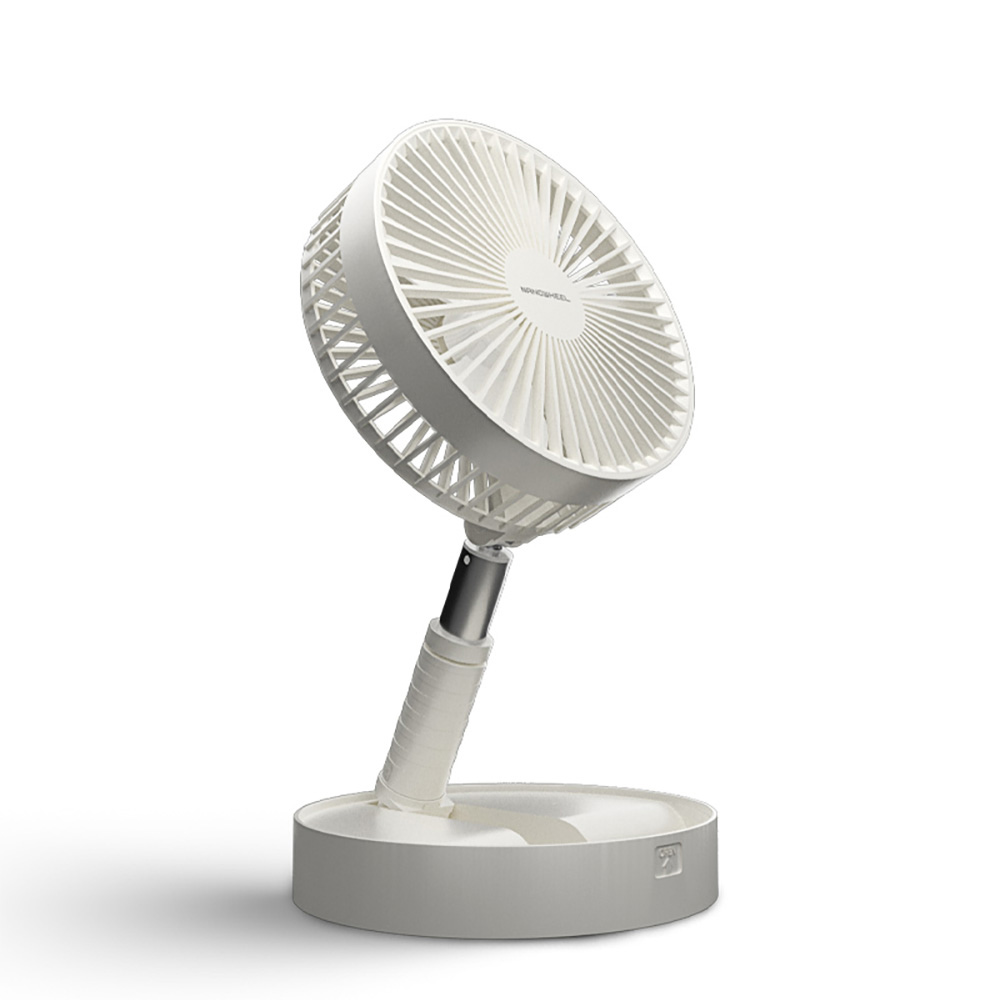 나노휠 나노윙 접이식 무선 휴대용 미니 선풍기, NW-02, 화이트 (POP 2005519351)