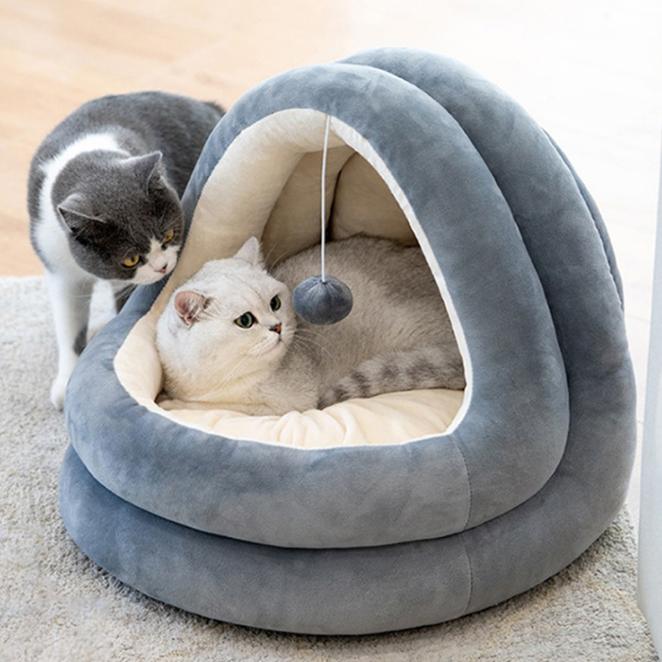 요기쏘 고양이 극세사 이글루 하우스, 그레이