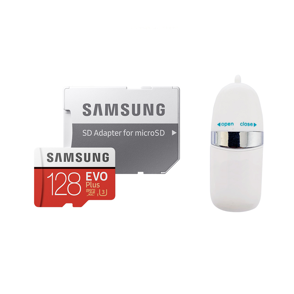 삼성전자 EVO Plus 마이크로SD 메모리카드 MB-MC128HA/KR + USB리더기 SOTC-01, 128GB