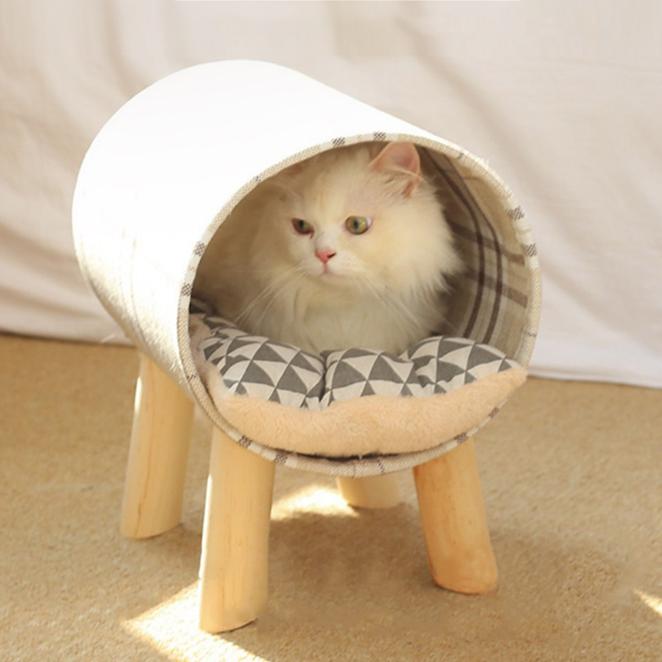 요기쏘 고양이 프리미엄 원목 터널 침대, 랜덤 발송, 1개